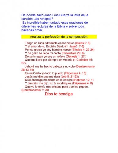 letra de cancion las avispas: