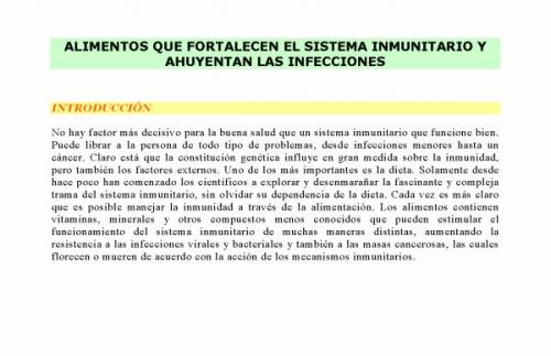 Documento alimentos que fortalecen el sistema inmunitario y ahuyentan las infecciones grupos - Alimentos sistema inmunologico ...
