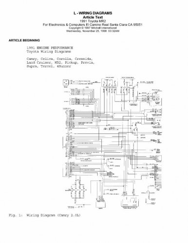 documento diagramas electricos toyota 1991