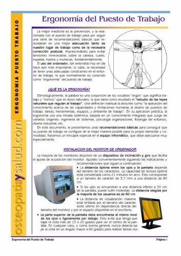 Documento ergonomia en puestos de trabajo oficinas for Ergonomia en el puesto de trabajo oficina