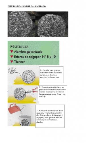 Documento esferas de alambre galvanizado grupos - Alambre galvanizado manualidades ...