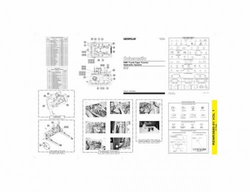 documento esquema hidraulico bulldozer d8 ii