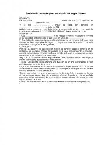 Empleadas de hogar 2016 tramos cotizacion for Modelo contrato empleada de hogar indefinido