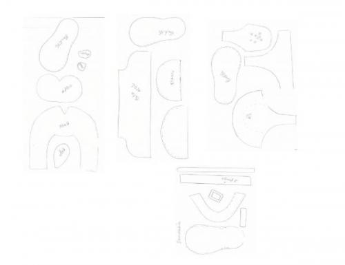 Moldes para zapatitos - Imagui