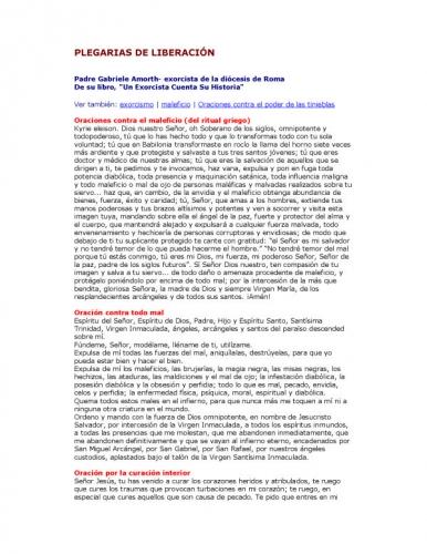 Documento Oraciones De Sanacion Y Liberacion