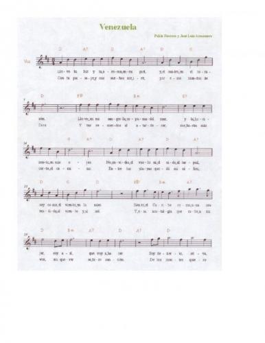 musica llanera letra: