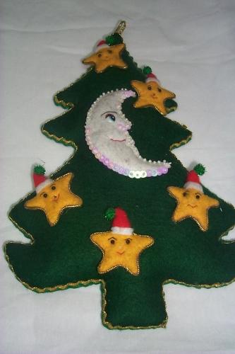 Imagen arbol de navidad en fieltro - Arbol de navidad de fieltro ...