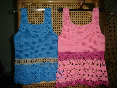 Blusas de niña tejidas en crochet - Imagui