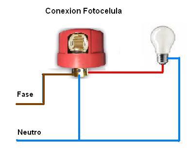 conexion fotocelda