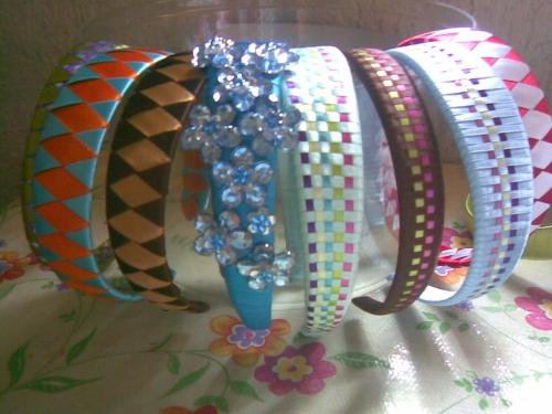 Como hacer diademas tejidas con liston - Imagui