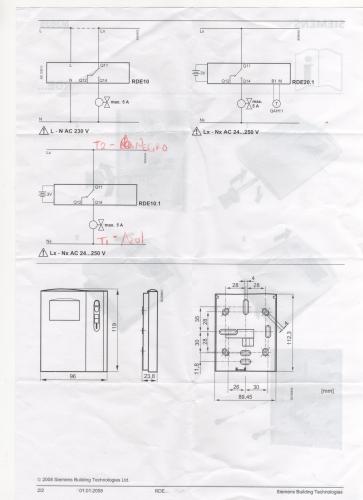 Imagen diagrama rde 10 1 de siemens - Termostato calefaccion siemens ...