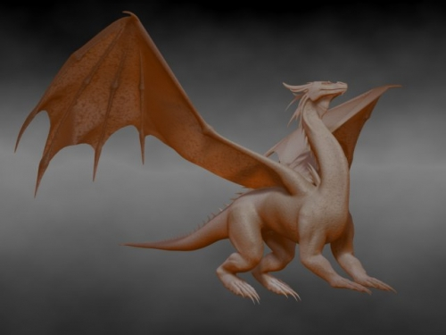 Dragon modelado con editable poly