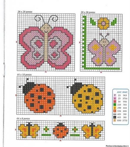 Punto cruz para bebés patrones gratis - Imagui