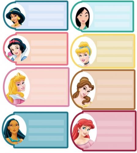 Etiquetas para cuadernos de princesas - Imagui