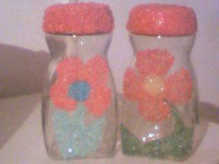 frascos decorados con arroz