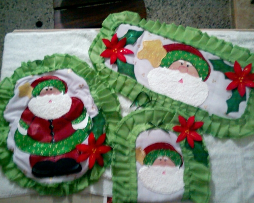 Lenceria De Baño Navidad: de Grupo de Decoración navideña Lenceria para baño en tela, foamy y