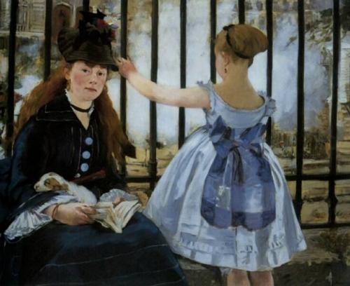Manet (Eduardo) Pintor frances Obra estacion Saint Lazare