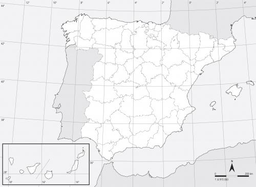 Mapa Mudo Politico de Espana