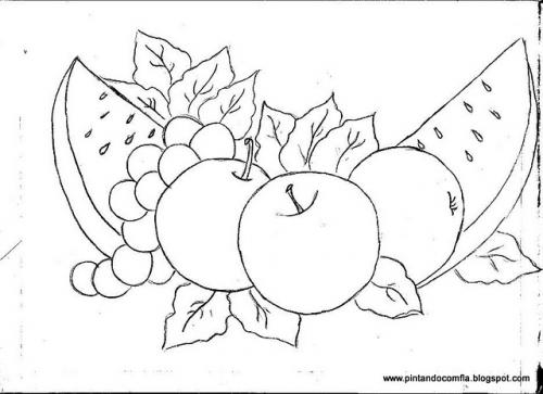 Pintura en tela frutas moldes imagui - Pintura en tela motivos navidenos ...