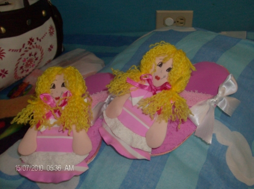 Imagen Pantuflas de foami para niñas - grupos.