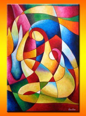 Imagen pintura abstracta en acrilico for Tecnicas vanguardistas