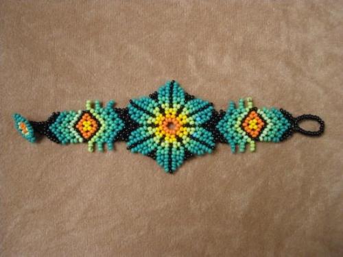 Pulseras mostacillas patrones - Imagui