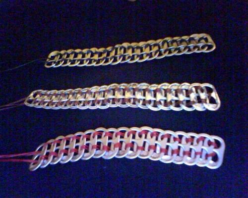 pulseras de anillas de latas metodo havaiano