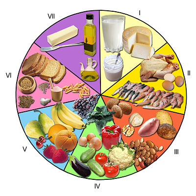 Imagen rueda de alimentos - grupos.emagister.com