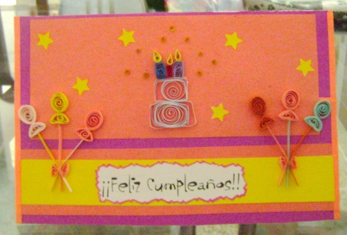 Imagen tarjeta de cumpleaños con apliques de filigrana - grupos ...