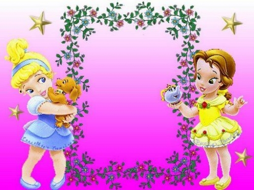 Marcos para tarjetas de princesas bebés - Imagui