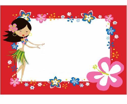 Tarjetas De Invitación Al Estilo Hawaiana Imagui