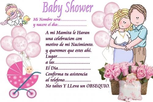 Imagen tarjeta lista para imprimir de baby shower - grupos.emagister ...