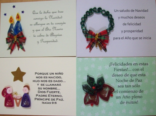 TARJETAS DE NAVIDAD EN FILIGRANA