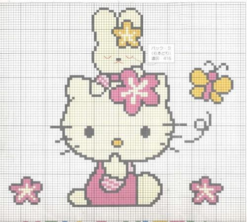 Hello Kitty patrones para bordar gratis  Imagui
