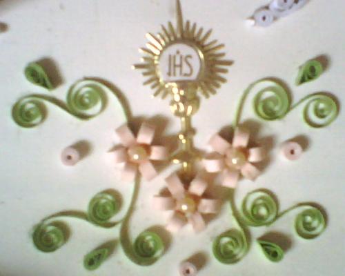 Imagen Una tarjeta de Primera comunion - grupos.