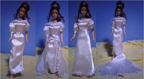 Patrones de vestidos de novia para barbie