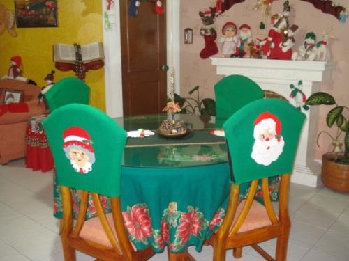 imagen vestido sillas de comedor navide o grupos