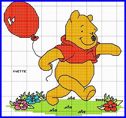 Winnie the Pooh a punto de cruz - Imagui
